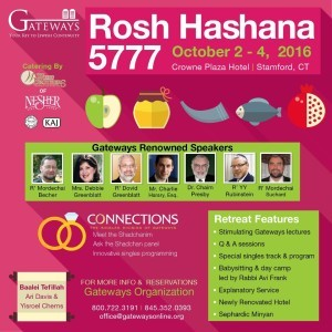 Rosh Hashanah 2016 Retreat with Gateways