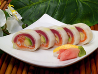 Tuna, Salmon, & Avocado, wrapped in cucumber from Lakewood Sushi